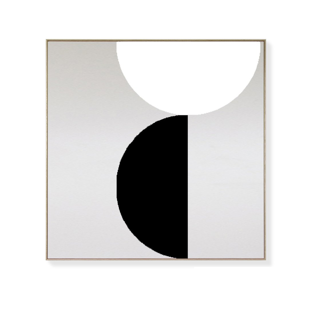 CANVAS KIT COMBO - 'ORBIT' Square Magnetic Art In Black & White