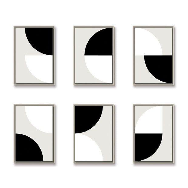 TOO D Magnetic Art - 'ARC' in Black & White with Standard Rectangular canvas - TOO DESIGNS