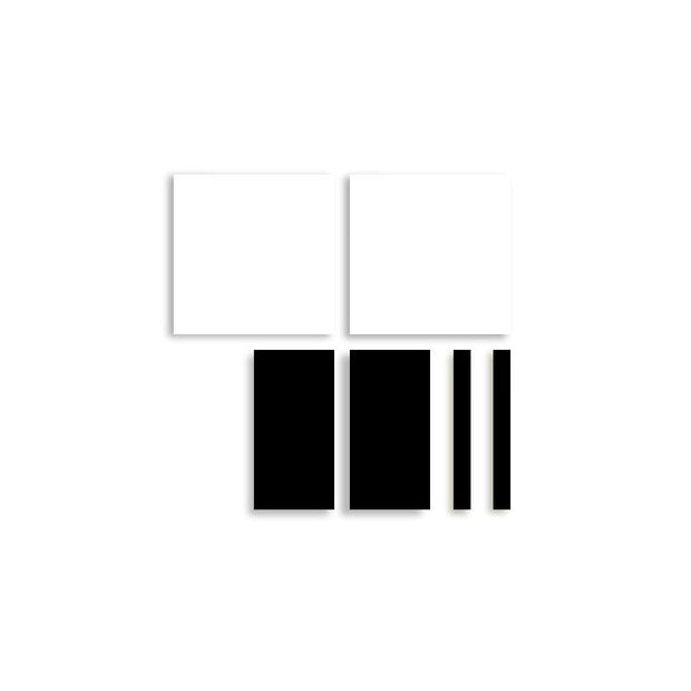 CANVAS KIT COMBO - 'URBAN' Rectangle Magnetic Art In Black & White