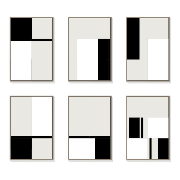CANVAS KIT COMBO - 'URBAN' Square Magnetic Art In Black And White