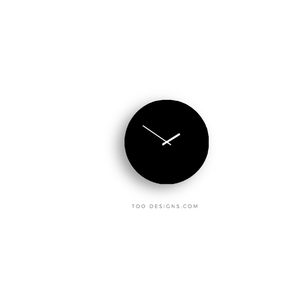 TOO TONE CLOCK Standard: Black, Black