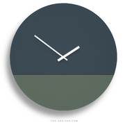 TOO TONE CLOCK Extra Large: Slate Blue, Forest