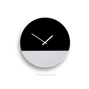 TOO TONE CLOCK Large: Black, White