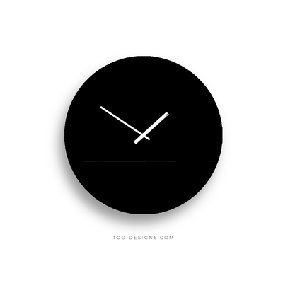 TOO TONE CLOCK Large: Black, Black