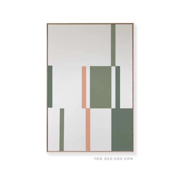 Large Rectangular canvas & Collection 4H: Forest, Eucalyptus, Salmon