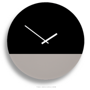 TOO TONE CLOCK Extra Large: Black, Stone