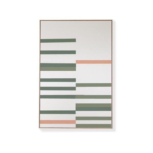 TOO D Magnetic Art - 'LINEAR' in Green & Salmon Kit - TOO DESIGNS