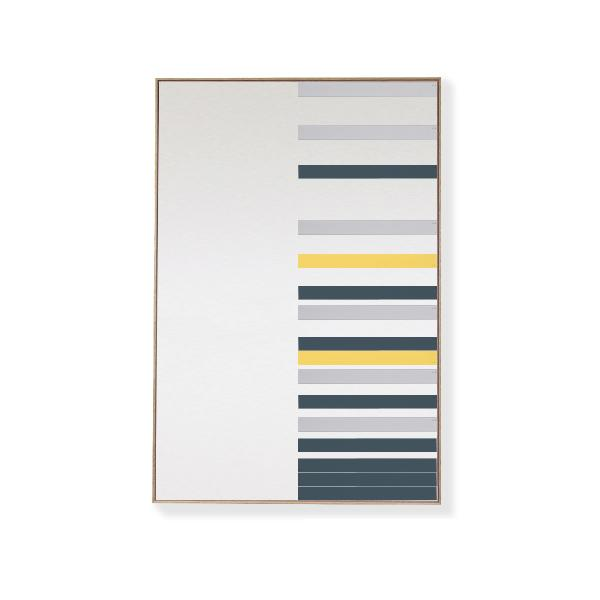 TOO D Magnetic Art - 'LINEAR' in Slate Blue, Grey & Yellow Kit - TOO DESIGNS