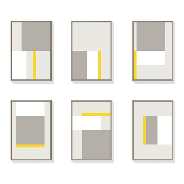 TOO D Magnetic Art - 'GRID' in Grey & Yellow Kit - TOO DESIGNS
