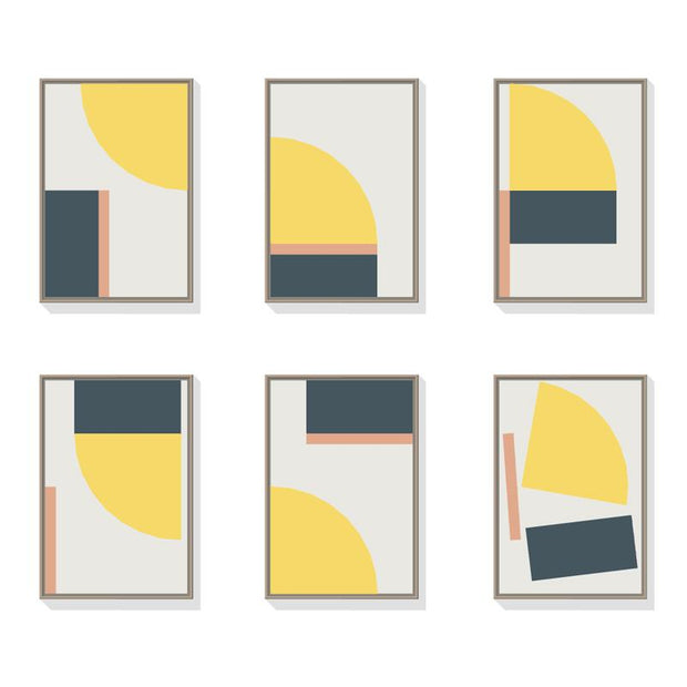 TOO D Magnetic Art - 'FUSION' in Yellow, Slate Blue & Salmon Kit - TOO DESIGNS