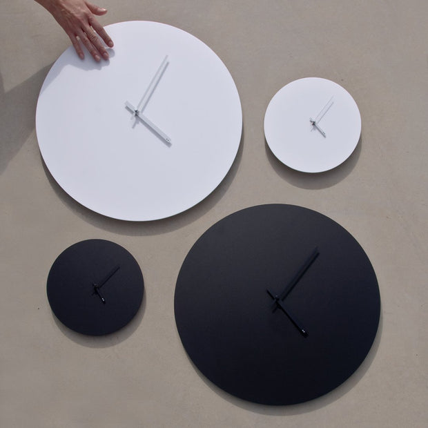 TOO Designs Minimal wall clock - White on White; Standard - TOO DESIGNS