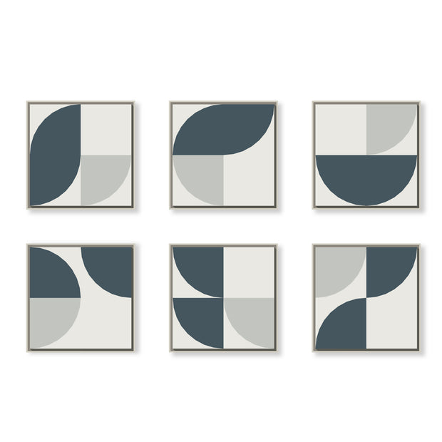 Standard Square canvas & Collection 6A: Slate Blue, Cement