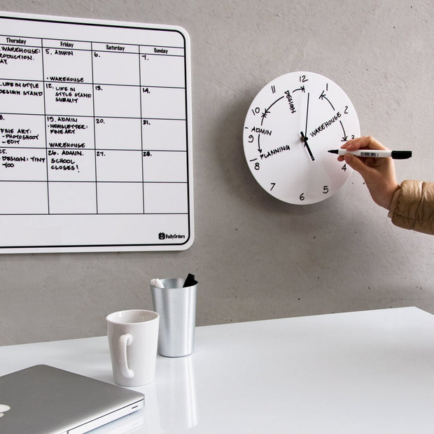 TOO-do whiteboard wall clock - Large - TOO DESIGNS
