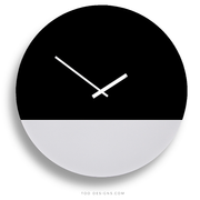 TOO tone wall clock: Extra Large - Black & White - TOO DESIGNS