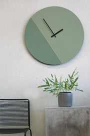 TOO tone wall clock: Extra Large - Cement Grey & Black - TOO DESIGNS