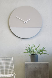 TOO tone wall clock: Extra Large - White & Stone Grey - TOO DESIGNS