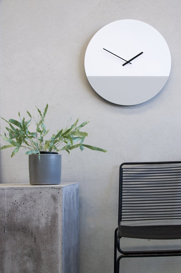 TOO tone wall clock: Large - Black & White - TOO DESIGNS