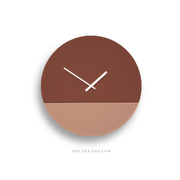 TOO tone wall clock: Large - Salmon Pink & Oxide Red - TOO DESIGNS