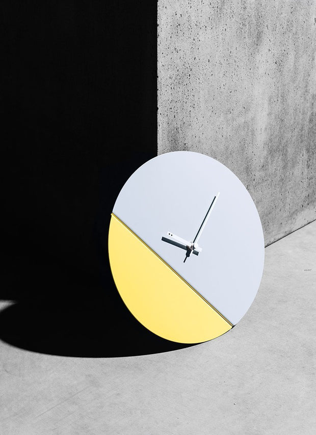 TOO tone wall clock: Standard - Cobalt Blue & Lemon Yellow - TOO DESIGNS