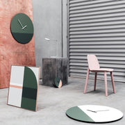 TOO tone wall clock: Standard - Eucalyptus Green & Forest Green - TOO DESIGNS