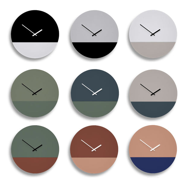 TOO tone wall clock: Standard - Stone Grey & Slate blue - TOO DESIGNS