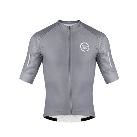 Zol Cycling Breathable Race Fit Jersey Grey - Zol Cycling