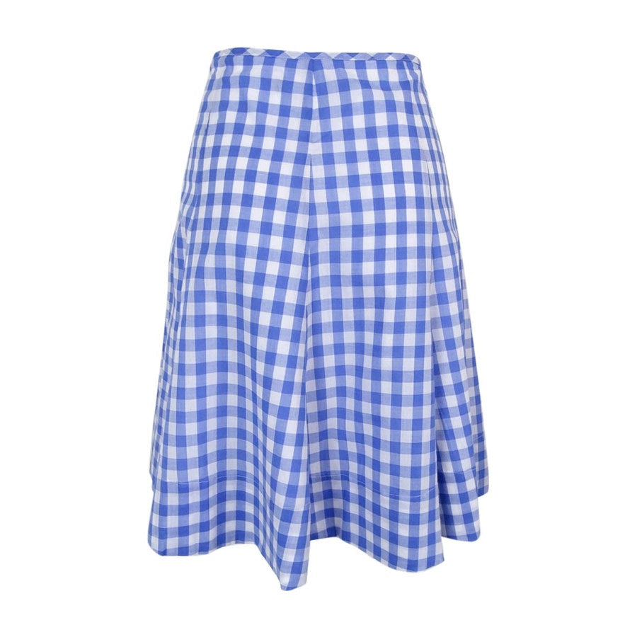 American Living Blue Plaid Lite Lined Skirt Size 4-16.