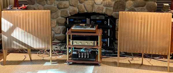 "The Audiophiliac is ""Tickled by the sound of this vintage Quad, Thorens, Conrad-Johnson, Luxman system"""