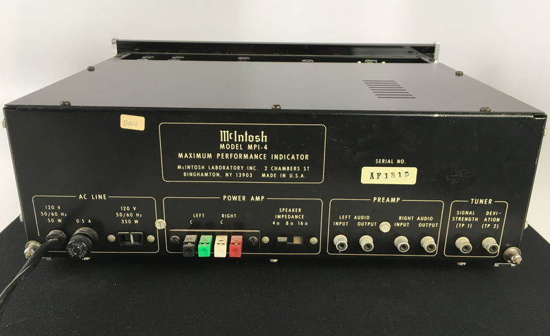 McIntosh MPI-4 Tuner Maximum Performance Indicator