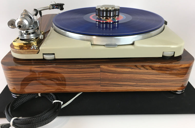 "Thorens TD-124 with ""NEW"" SME 3009 and Solid Rosewood Plinth"
