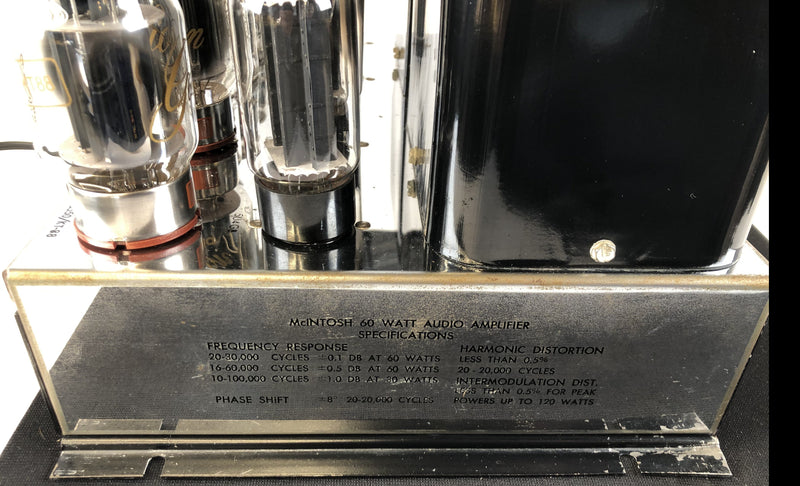 McIntosh MC60 Tube Mono Amplifiers, Very Clean and Working Perfectly
