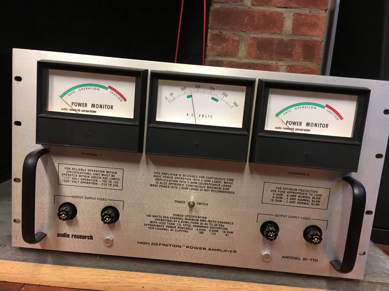 Audio Research D-110 Solid State Amplifier – SkyFi Audio