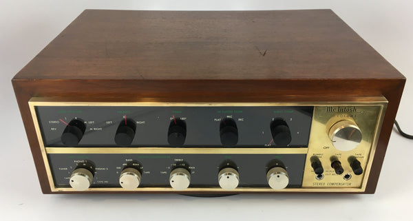 McIntosh C-20 Tube Preamp In Rare Brass