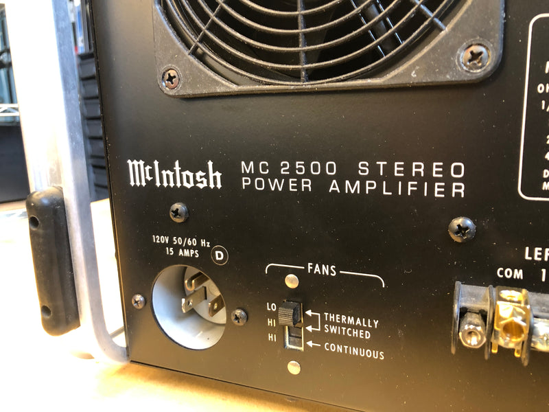 McIntosh MC2500 Solid State Amplifier - Collector Set - Rare Black Finish