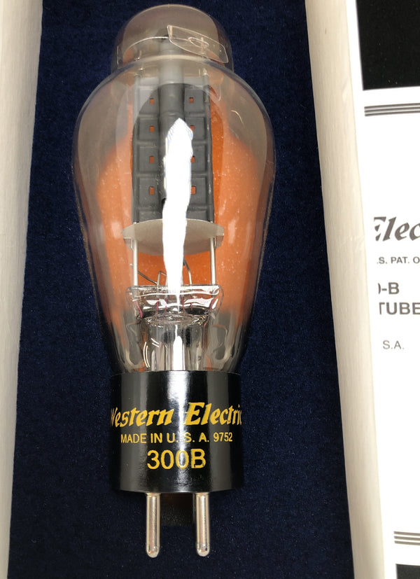 Western Electric No. 300-B Re-Issue NOS Tubes - NEW Matched Pair (Set 3 of 3)