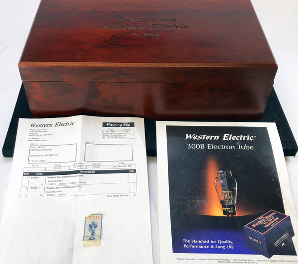 Western Electric No. 300-B Re-Issue NOS Tubes - NEW Matched QUAD Set (Set 1 of 2)