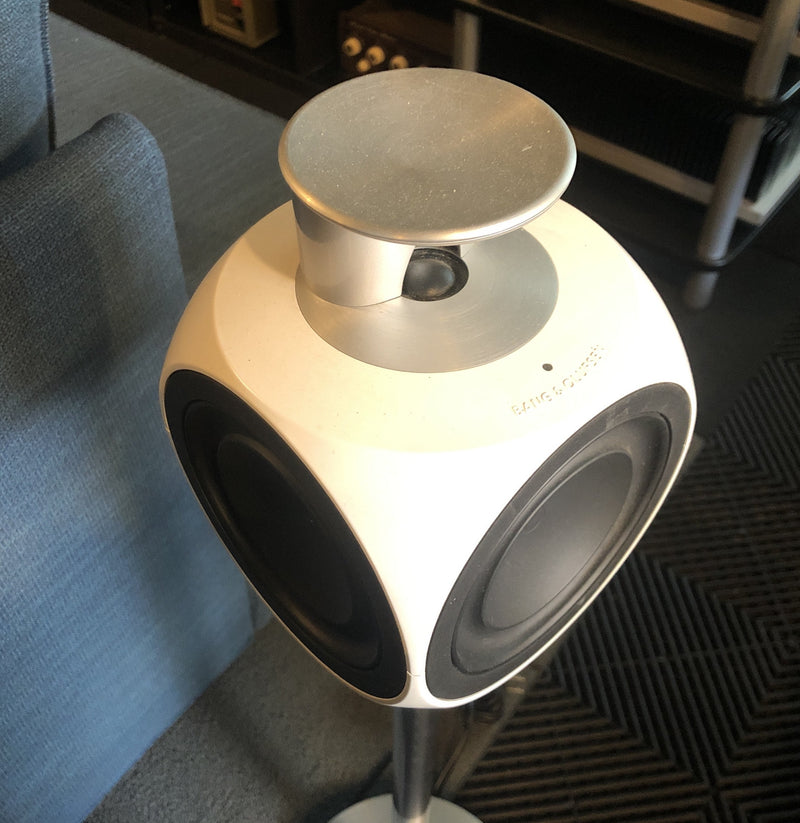 B&O (Bang & Olufsen) BeoLab 3 Powered Speakers - With Stands