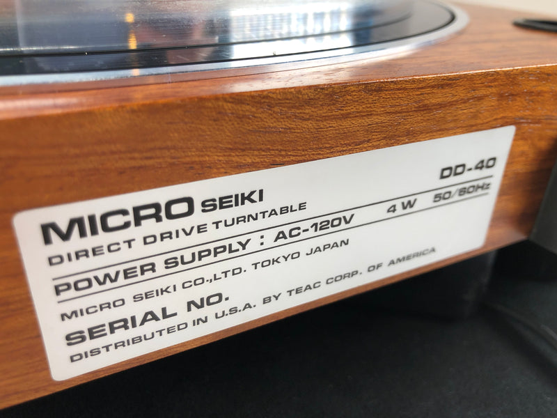 Micro Seiki DD-40 Vintage Turntable - Gorgeous Wood Plinth
