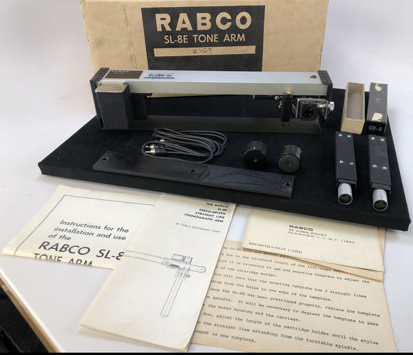 Rabco SL-8E Tangential Tonearm in Box - Complete - Tested with Extras