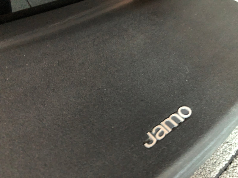 "Jamo R909 Reference Speakers in Gloss Black - Made in Denmark - Open Baffle Design with DUAL 15"" Woofers"
