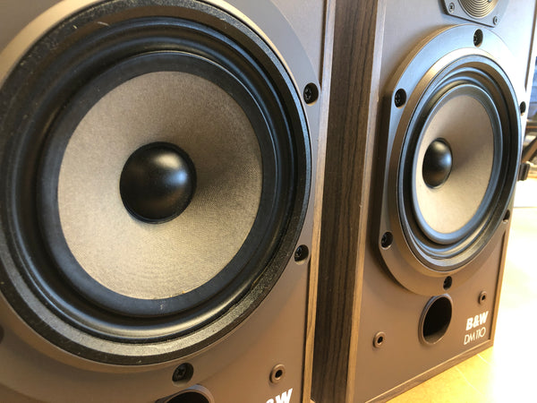 B&W (Bowers & Wilkins) DM110 Vintage 2-Way Speakers