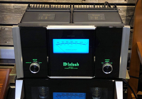 McIntosh MC501 Monoblock Amplifiers - 500W - Selectable 120V or World Voltage 220/240V