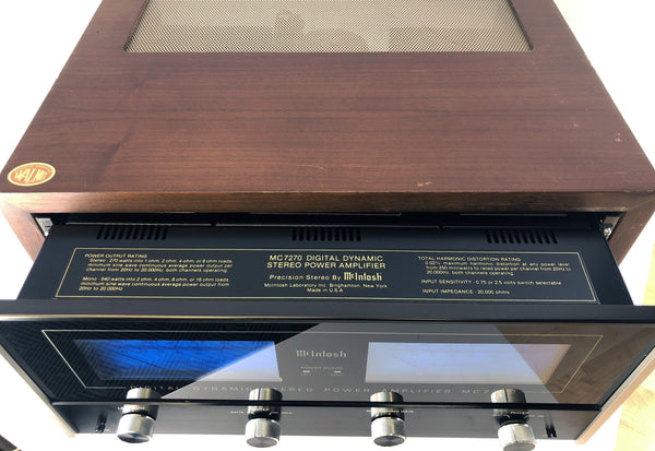 McIntosh MC7270 Vintage Solid State Amplifier - One of our Favorites!