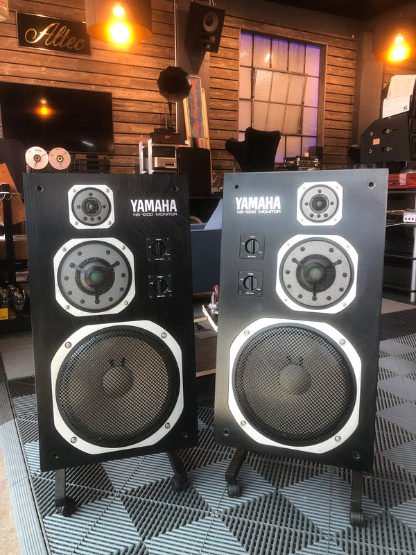 Yamaha NS-1000M Vintage Studio Monitor Speakers with Beryllium Drivers!