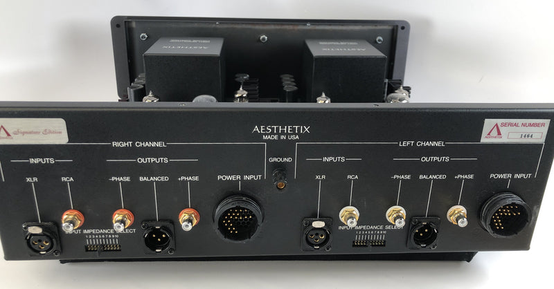 Aesthetix Io Signature All-Tube Phono Stage with Dual Power Supplies