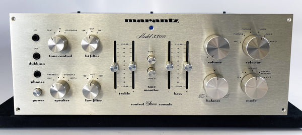 "Marantz Model 3300 Preamplifier - ""Stereophonic Control Console"" from 1973"