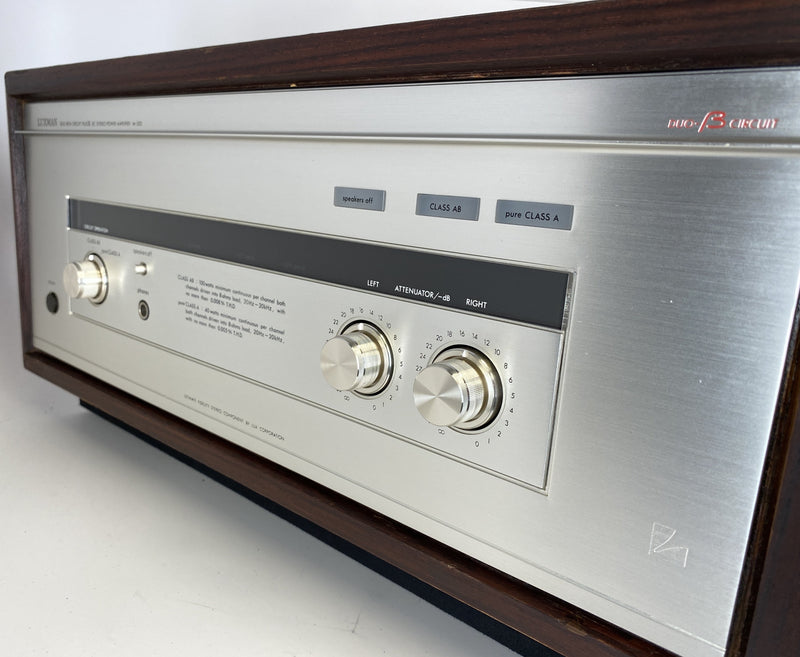Luxman M-300 Vintage Solid State Amplifier - Serviced Plus Refinished Cabinet - Gorgeous!