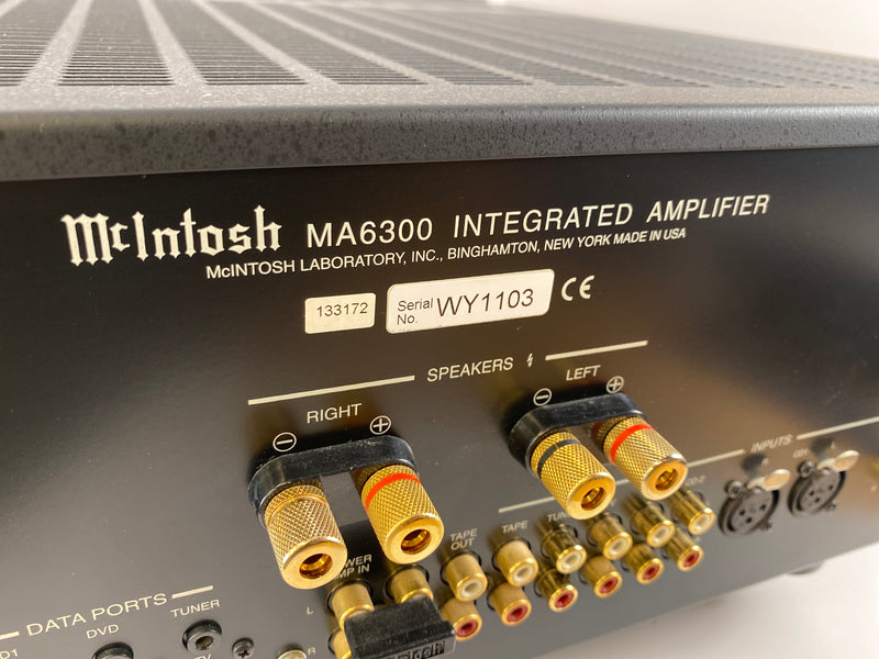 McIntosh MA6300 Integrated Amplifier - All Analog with Phono Input - Like New and Complete