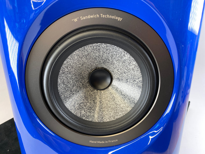 Focal Sopra No. 1 Speakers - Audi Blue Finish - Perfect and Like New with Boxes and Paperwork