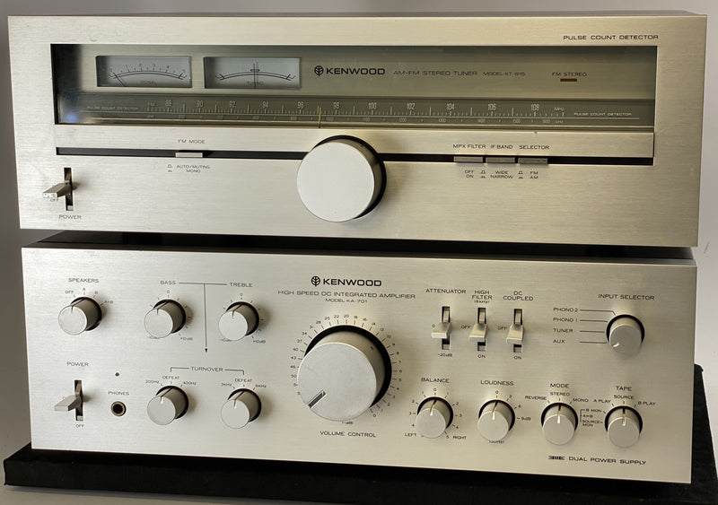 Kenwood KA-701 and KT-615 - Integrated Amp and Tuner Set